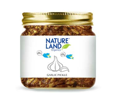 Organic Garlic Pickle (Nature-Land)