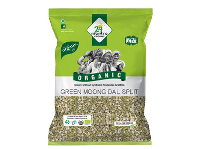 Organic Green Split Moong Dal (24 Mantra)