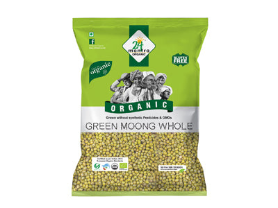 Organic Green Whole Moong (24 Mantra)