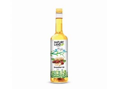 Organic Groundnut Oil (Nature-Land)