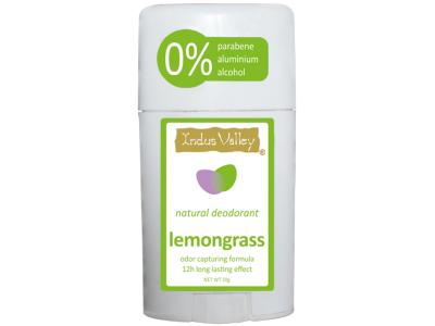 Natural Deodorant Stick Lemongrass (Indus Valley)