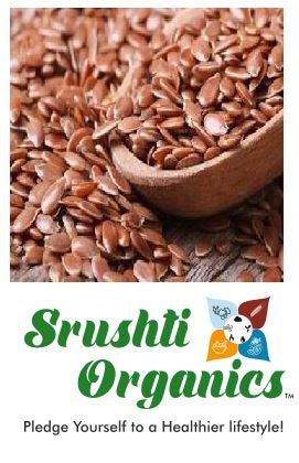 Buy best Srushti Organics Jawas/Flaxseed Online at Orgpick