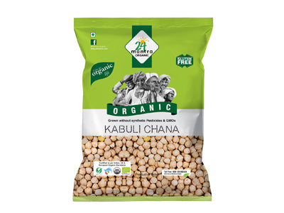 Buy 24 Mantra Organic Kabuli Chana/White Chickpeas Online from Orgpick