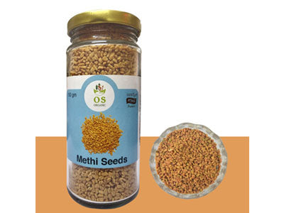 Organic Fenugreek Seeds/Methi-Bottle (Orgasatva)