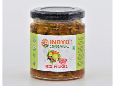 Organic Mix Pickle-Glass Bottle (IndyoOrganic)