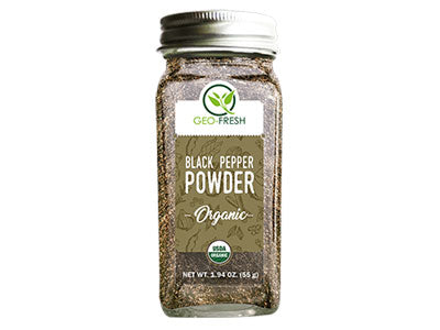 Organic Black Pepper Powder (Geo-Fresh)