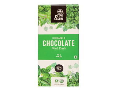 Organic Chocolate Bar-Mint Dark(Pure&Sure)