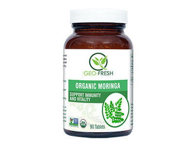 Organic Moringa (90 Tablet) (Geo-Fresh)