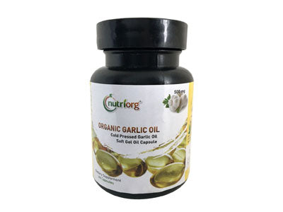 Buy Organic Garlic Oil Soft Gel Capsule Online