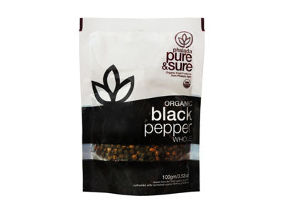 Organic Black Pepper Whole (Pure&Sure)