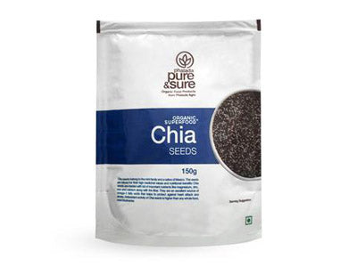 Order Pure & Sure Organic Chia Seeds ,150gm