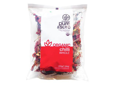 Organic Chilli Whole (Pure&Sure)