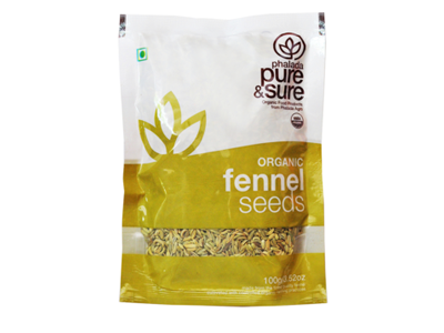 Organic Fennel Seeds (Pure&Sure)