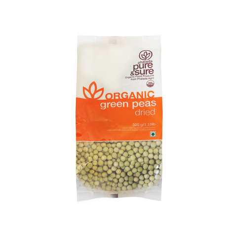 Buy Pure & Sure Organic Green Peas Dried,500gm