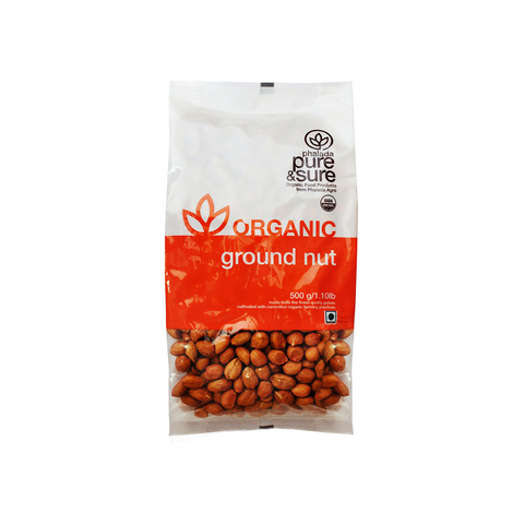 Buy Pure & Sure Organic Groundnut,500gm