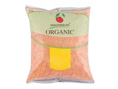 Organic Masoor Dal - Dhuli / Red Lentil (Health Fields)