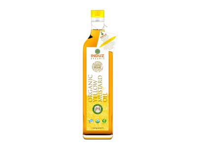 Buy Induz Organic Mighty Yellow Mustard Oil -Cold Pressed Online At Orgpick