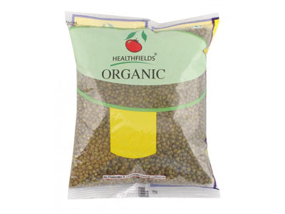 Organic Moong Dal ( Green Gram ) Whole (Health Fields)