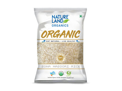 Buy Natureland's Organic Sona Masoori Rice Online At Orgpick