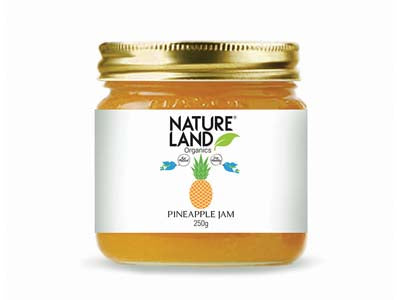 Organic Pineapple Jam (Natures-Land)
