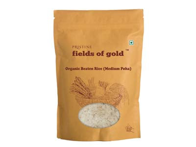 Organic Beaten Rice (Medium Poha) (Pristine)