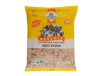 Buy 24 Mantra Organic Red Poha/Flattened Rice Online At Orgpick