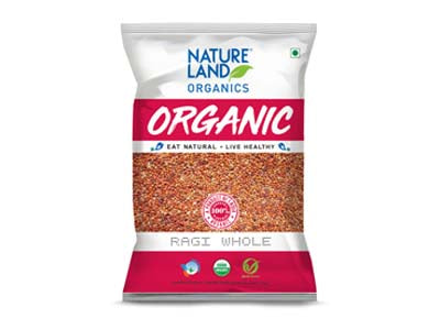 Organic Ragi Whole (Nature-Land)