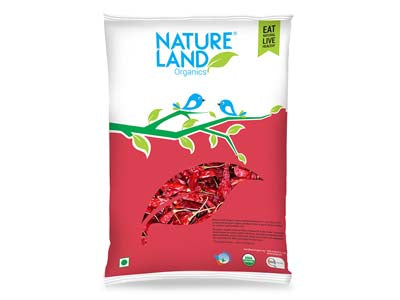 Organic Red Chilli Whole (Nature-land)