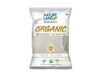 Organic Rice Flour (Natures-Land)