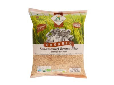 Buy 24 Mantra Organic Raw Sonamasuri Brown Rice Online At Orgpick