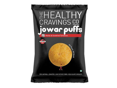 Buy Roasted Jowar Puffs - Herbs & Sundried Tomatoes Online from Orgpick