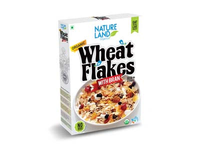Organic Wheat Flakes (Natures-Land)