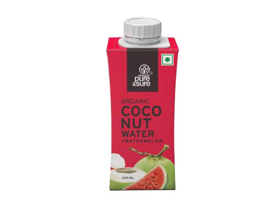 Buy Pure & Sure Organic Coconut Water-Watermelon Online At Orgpick
