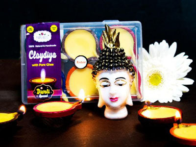 Clay Diya with Pure Ghee - Medium (100% Natural & Handmade)