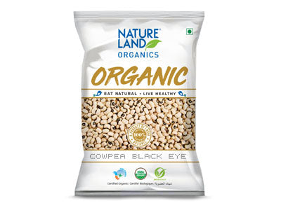Buy Natureland's Organic Cowpea Black eye Online At Orgpick