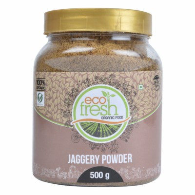 Buy best quality Ecofresh Organic Jaggery Powder Bottle Online, 500gm-Orgpick