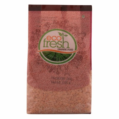 Organic Masoor Dal / Split Red Lentil (Eco-Fresh)