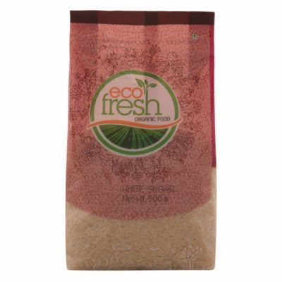 Buy best quality Ecofresh Organic White Sugar Online, 500gm-Orgpick