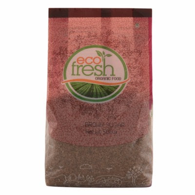 Buy best quality Ecofresh Organic Brown Sugar Online, 500gm-Orgpick