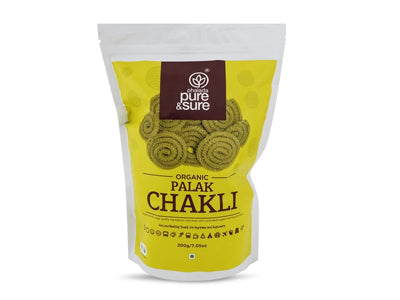 Buy Pure & Sure Organic Palak Chakli Online At Orgpick