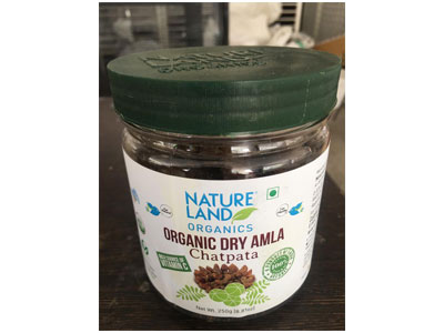 Organic Dry Amla Chatpata (Nature Land)