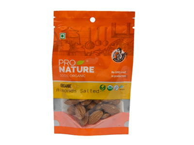 Organic Salted Almonds - Pouch (Pro Nature)