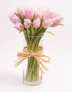 Lovely Pink Tulip In Vase