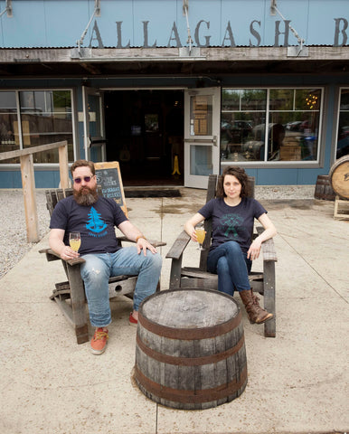 Jeff and Emma at Allagash.