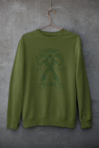 Dirigo Crossed Axes Crew Neck Sweatshirt