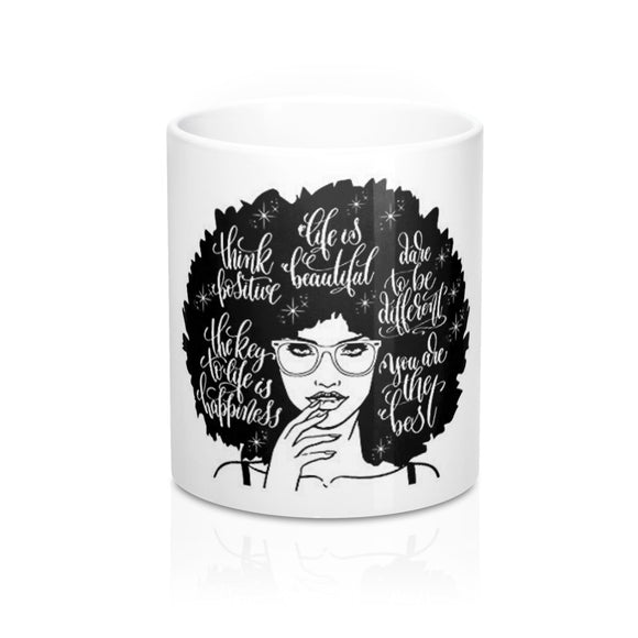 Positive Affirmations Mug- White 11oz