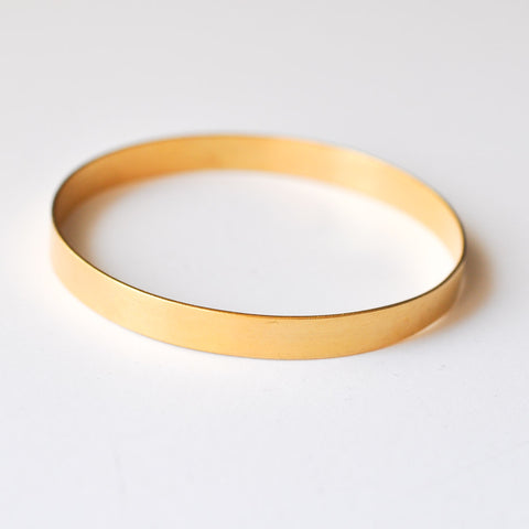 Thick Gold Bangle