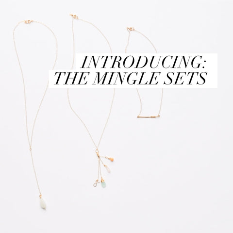 Mingle Sets delicate Gold Necklaces