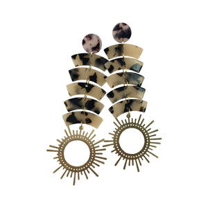 The Kallie - Tortoise Acrylic Earrings