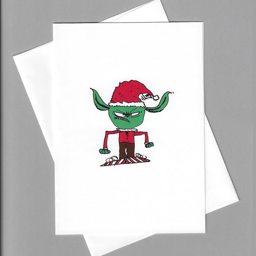 Angry Elf Card